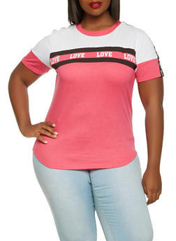 Plus Size Love Graphic Tee - 0912063408569