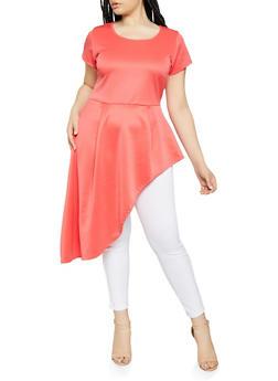 Orange 1X Short Sleeve Tops