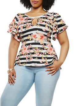 Plus Size Soft Knit High Low Top - 0912074280587