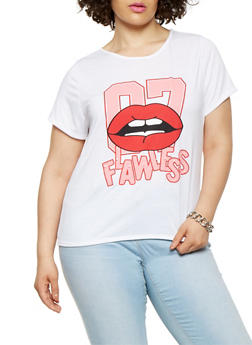 Plus Size Flawless Graphic Tee - 0912074285945