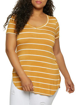 Plus Size Striped Top | 0915001448856 - 0915001448856