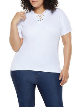 Plus Size Soft White Knit Tops
