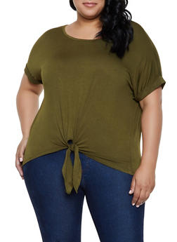 7197c32a7 Plus Size Tie Front Tee | 0915054261533 - 0915054261533