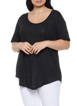 718be8cc586 Plus Size Oversized Tee - 0915054269401
