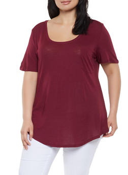 Plus Size Oversized Tee - 0915054269401