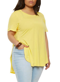 Plus Size Side Slit Tee - 0915054269411