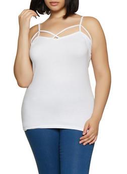 Plus Size Caged Basic Cami - 0916015050306