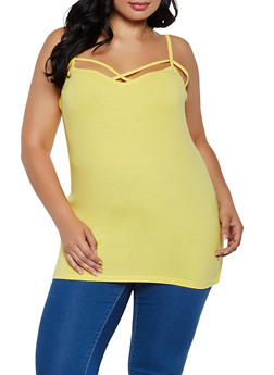 Plus Size Caged Basic Cami - 0916015050306