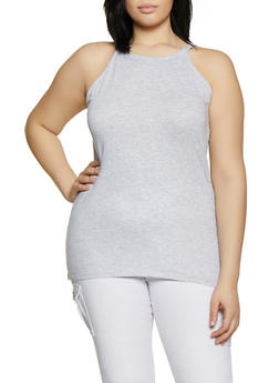 Plus Size High Neck Cami - 0916015052122