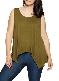 Green 3X Sleeveless Tops