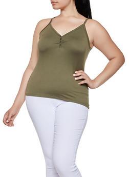Plus Size Soft Knit Cami - 0916060582343