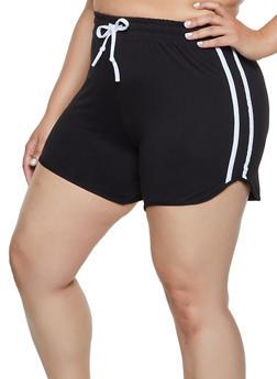 Plus Size Soft Knit Dolphin Shorts - 0951001441350