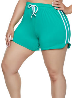 Plus Size Soft Knit Dolphin Shorts - 0951001441350