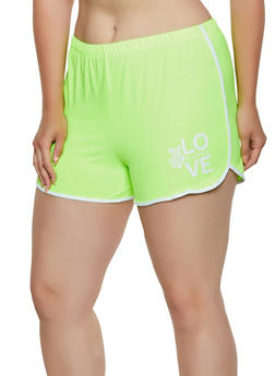 Plus Size Soft Knit Dolphin Shorts | 0951001441453 - 0951001441453