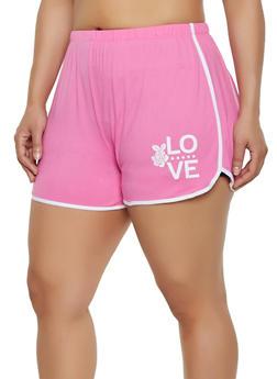 Pink 3X Shorts