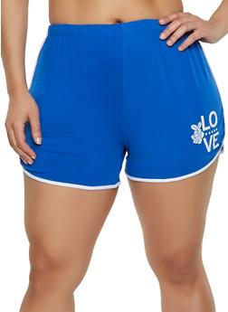 Plus Size Soft Knit Dolphin Shorts | 0951001441453 - 0951001441453
