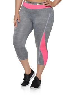 Plus Size Boss Foil Graphic Active Leggings - 0951038340557