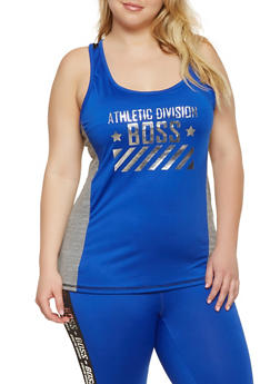 Plus Size Boss Graphic Active Tank Top - 0951038340558