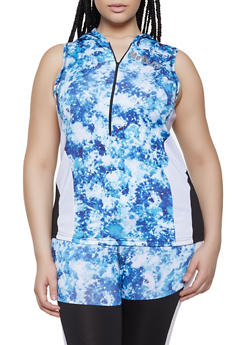 Plus Size Move Color Block Active Top - 0951038340562