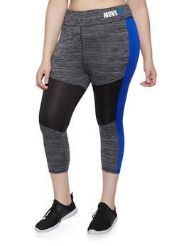 141bf23b5c7036 Plus Size Color Block Active Leggings | 0951038340563 - 0951038340563