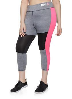 Plus Size Color Block Active Leggings | 0951038340563 - 0951038340563