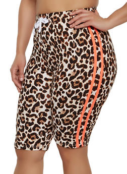 Womens Animal Print Shorts