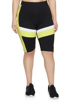 Plus Size Cotton Bike Shorts
