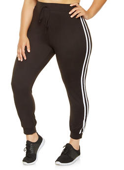 Plus Size Soft Knit Joggers - 0951072241005