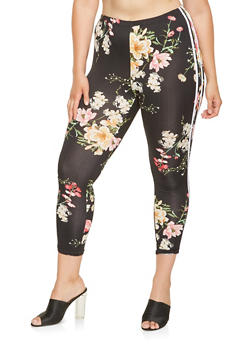Plus Size Floral Capri Leggings - 0951072241015