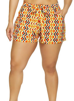 Womens Multi Print Shorts