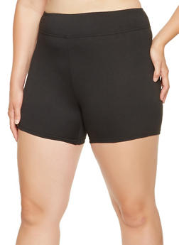 Plus Size Solid Bike Shorts - 0960060580050