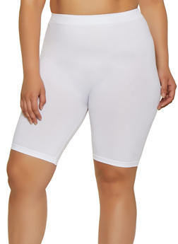 Plus Size Spandex Bike Shorts