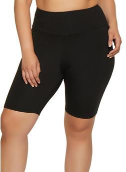 Plus Size Soft Knit Bike Shorts |  0960061639691 - 0960061639691