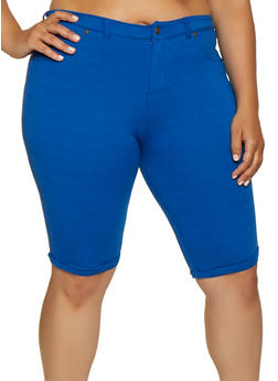 Plus Size Bermuda Shorts - 0960062703254