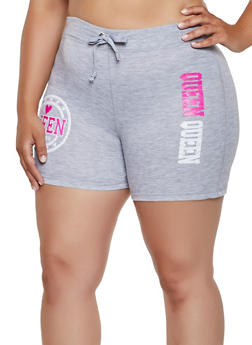 Queen Forever French Terry Lined Sweat Shorts - 0960062703272