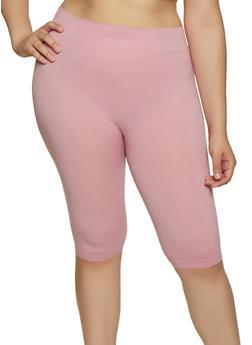 Plus Size Seamless Bike Shorts - 0960062703879
