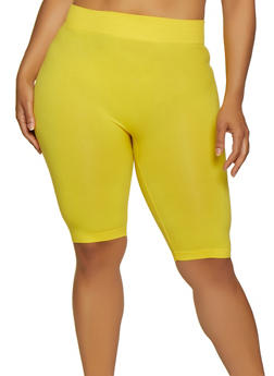 Plus Size Seamless Bike Shorts - 0960062703879