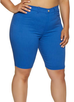 Plus Size Knit Bermuda Shorts   0960063402087 - 0960063402087
