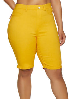 Plus Size Knit Bermuda Shorts | 0960063402087 - 0960063402087