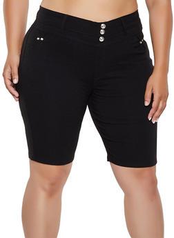 Plus Size Pull On Bermuda Shorts | 0960063402091 - 0960063402091