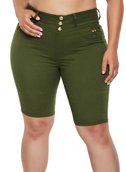 Plus Size Pull On Bermuda Shorts | 0960063402091 - 0960063402091