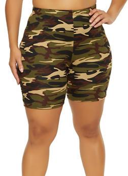Plus Size Camo Bike Shorts | 0960074017600 - 0960074017600
