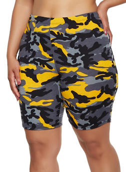 Plus Size Camo Bike Shorts | 0960074017600 - 0960074017600