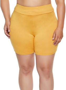 Plus Size Soft Knit Bike Shorts | 0960074017800 - 0960074017800