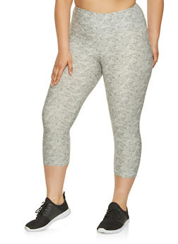 Plus Size Printed Capri Leggings - 0965060582517