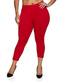 Plus Size French Terry Pull On Pants - 0965062703255