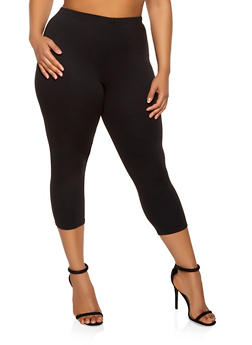 Plus Size Cropped Ponte Leggings - 0965074010031