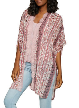 Floral Cardigan and Tank Top - 1001015992218