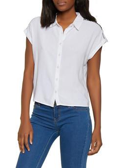 Womens White Collared Shirt