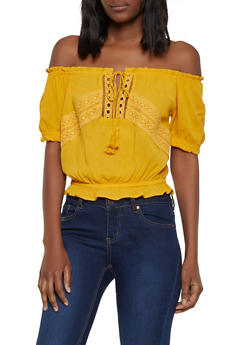 9153738e033 Cheap Womens Off The Shoulder Tops | Everyday Low Prices | Rainbow